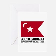 SC Secession Flag Greeting Cards