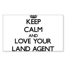 Keep Calm and Love your Land Agent Decal
