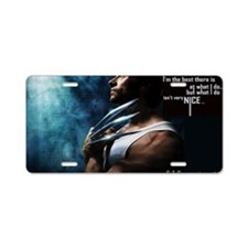 Wolverine Aluminum License Plate