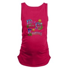 Peace Love Knitting Maternity Tank Top
