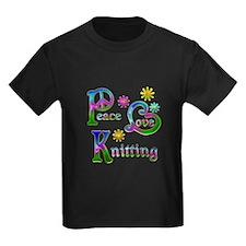 Peace Love Knitting T
