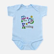 Peace Love Knitting Infant Bodysuit