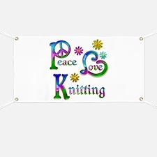 Peace Love Knitting Banner