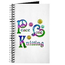 Peace Love Knitting Journal