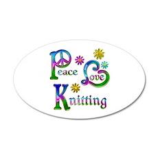 Peace Love Knitting Wall Decal
