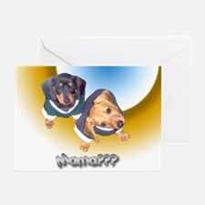Mamas Day Puppy Doxies Greeting Cards (Package of
