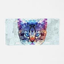 abstract kitten Aluminum License Plate
