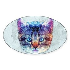 abstract kitten Decal