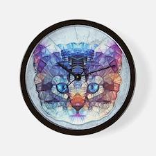 abstract kitten Wall Clock