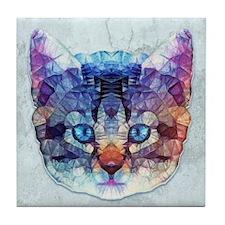 abstract kitten Tile Coaster