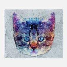 abstract kitten Throw Blanket