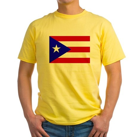 Puerto Rican Flag Yellow T-Shirt