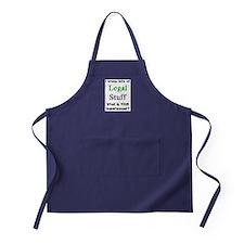 legal stuff Apron (dark)