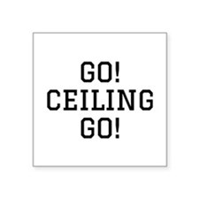 "Go Ceiling Square Sticker 3"" x 3"""