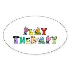 Play Therapy Oval Decal