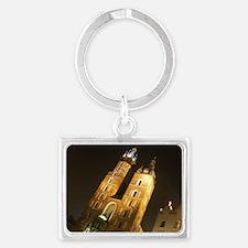 St. Mary's Basilica, Krakow, Po Landscape Keychain