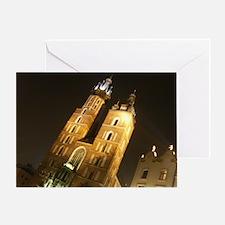 St. Mary's Basilica, Krakow, Poland Greeting Card