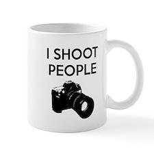 I shoot people - photography Small Mug