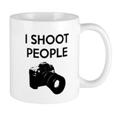 I shoot people - photography Small Mug