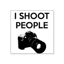 "I shoot people - photography Square Sticker 3"" x 3"