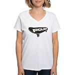 Skateboard Police Women's V-Neck T-Shirt