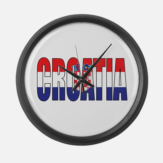 Croatia Large Wall Clock