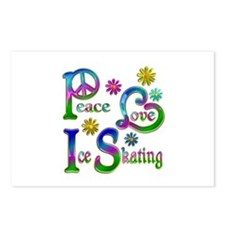 Peace Love Ice Skating Postcards (Package of 8)