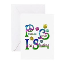 Peace Love Ice Skating Greeting Cards (Pk of 20)