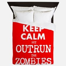 Keep Calm but Outrun the Zombies Queen Duvet