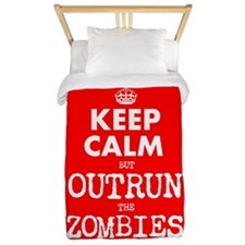 Keep Calm but Outrun the Zombies Twin Duvet