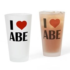 I Heart Abe Drinking Glass