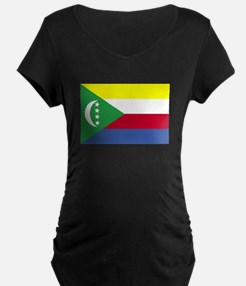 Comoros Flag Maternity T-Shirt