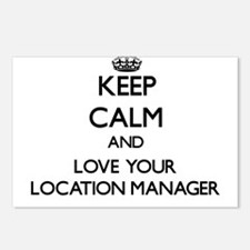 Keep Calm and Love your Location Manager Postcards