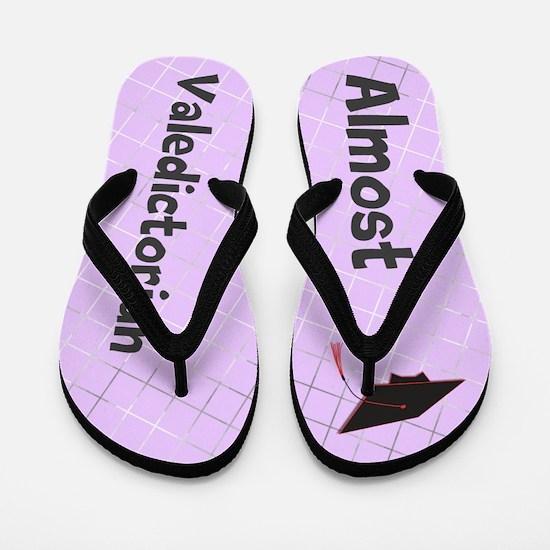 Funny Almost Valedictorian Purple Flip Flops