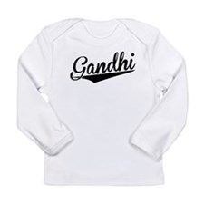 Gandhi, Retro, Long Sleeve T-Shirt