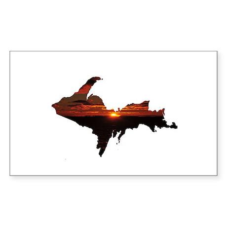 U.P. Sunrise Sticker