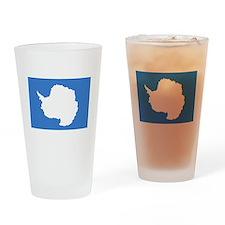 Antarctica Flag Drinking Glass