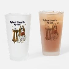 Basset Hound Best Friend My Dad Drinking Glass