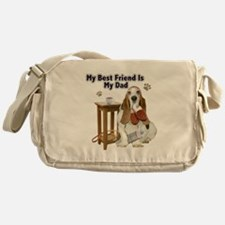 Basset Hound Best Friend My Dad Messenger Bag