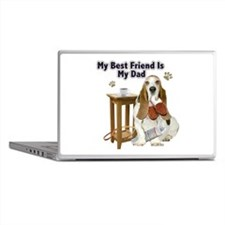 Basset Hound Best Friend My Dad Laptop Skins