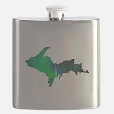 Aurora Borealis U.P. 2 Flask
