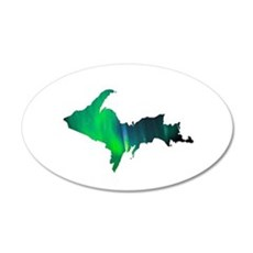 Aurora Borealis U.P. 2 35x21 Oval Wall Decal