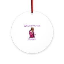 Janice Atkinson UKIP Round Ornament