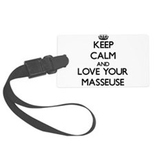 Keep Calm and Love your Masseuse Luggage Tag