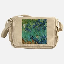 Van Gogh Garden Irises Messenger Bag