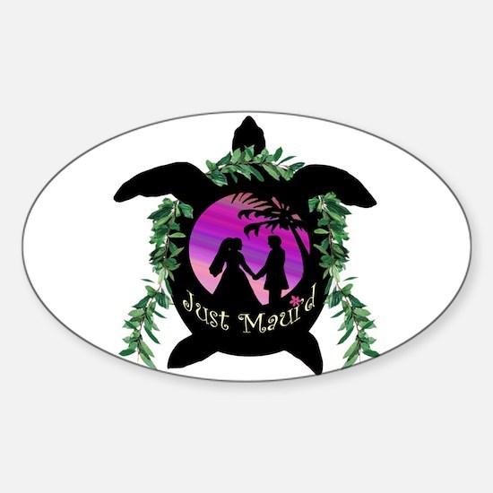 Just Maui'd Honu Logo Oval Decal