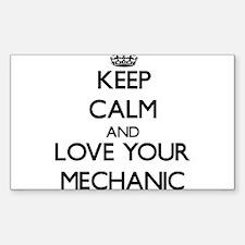 Keep Calm and Love your Mechanic Decal