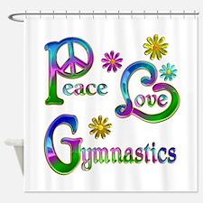 Peace Love Gymnastics Shower Curtain