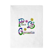 Peace Love Gymnastics Twin Duvet