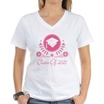 Class of 2021 Women's V-Neck T-Shirt